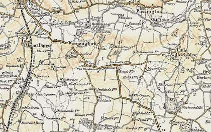Old map of Wormingford in 1898-1899