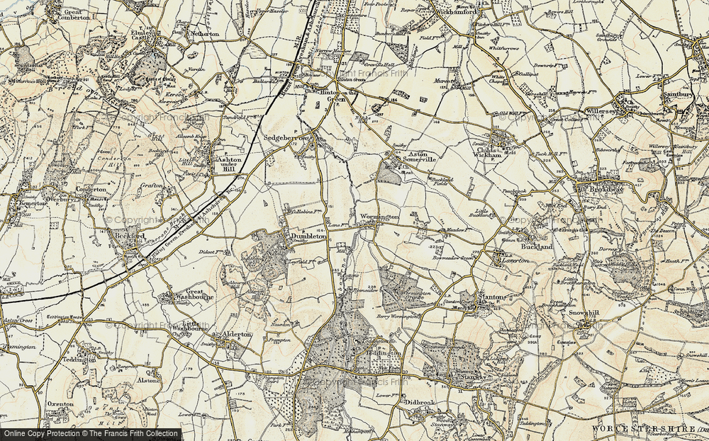 Old Map of Historic Map covering Leasow Ho in 1899-1901