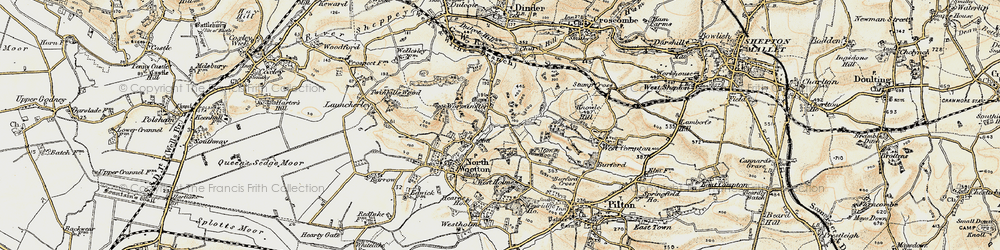 Old map of Worminster in 1899