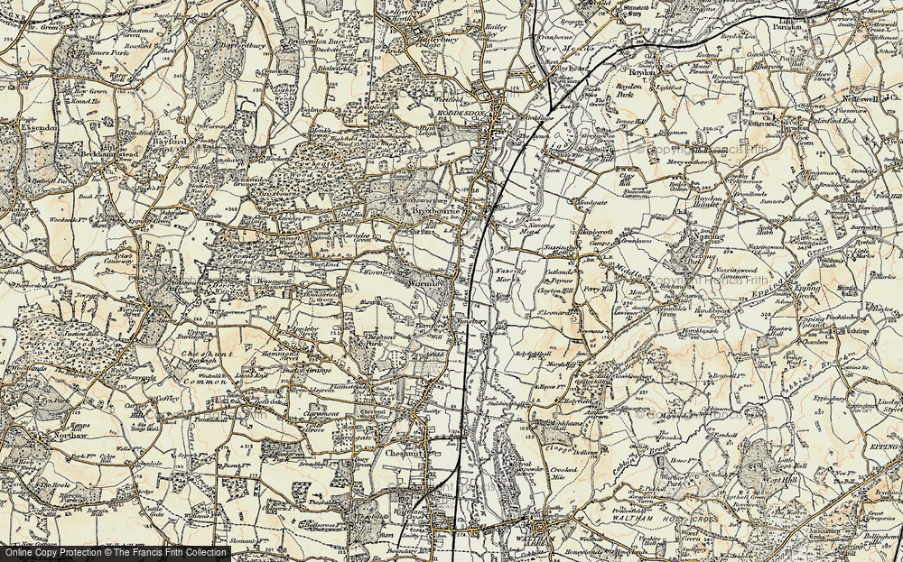Old Map of Wormley, 1897-1898 in 1897-1898