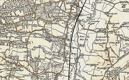 Old map of Baas Hill in 1897-1898