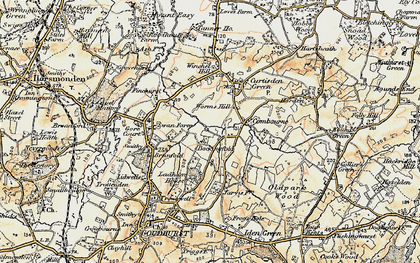 Old map of Worms Hill in 1897-1898