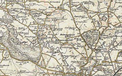 Old map of Wornish Nook in 1902-1903