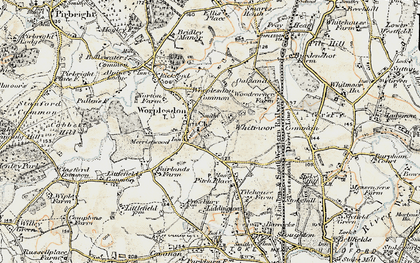 Old map of Whitmoor Common in 1898-1909