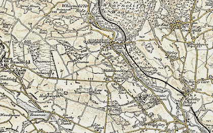 Old map of Worrall in 1903
