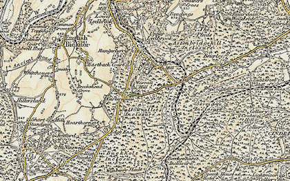 Old map of Worrall Hill in 1899-1900