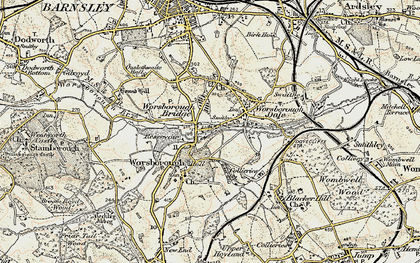Old map of Worsbrough Bridge in 1903
