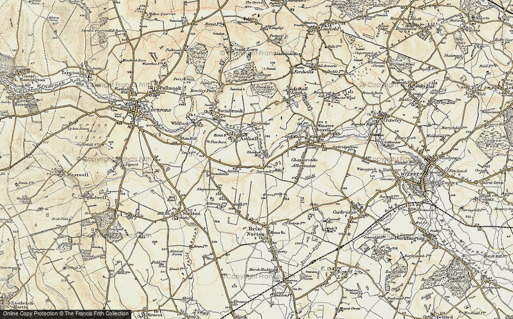 Old Map of Worsham, 1898-1899 in 1898-1899