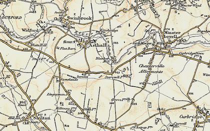 Old map of Worsham in 1898-1899
