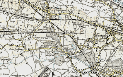 Old map of Worsley in 1903