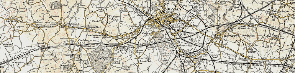 Old map of Worsley Mesnes in 1903