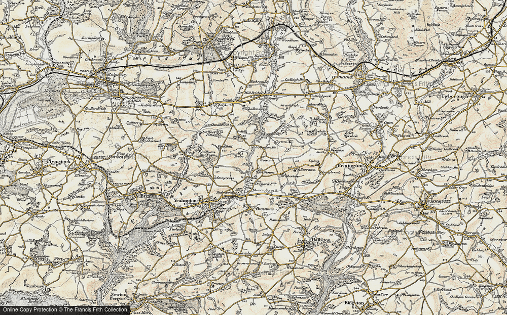 Old Map of Worston, 1899-1900 in 1899-1900