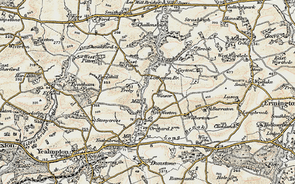 Old map of Worston in 1899-1900