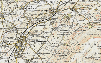 Old map of Barkerfield in 1903-1904