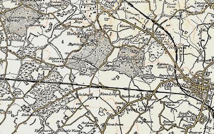 Old map of Worten in 1897-1898