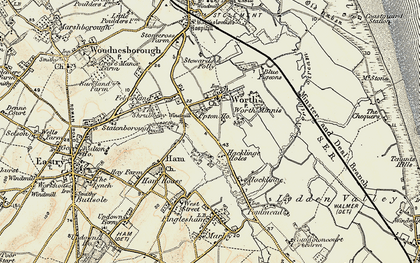 Old map of Worth in 1898-1899