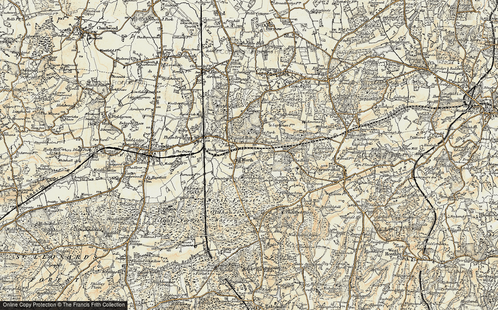 Old Map of Worth, 1898-1902 in 1898-1902