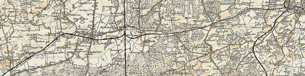 Old map of Worth in 1898-1902