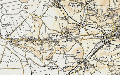Old map of Worth in 1899