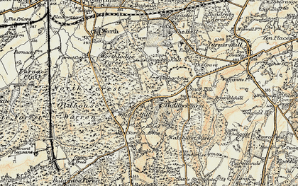 Old map of Whitely Hill in 1898-1902