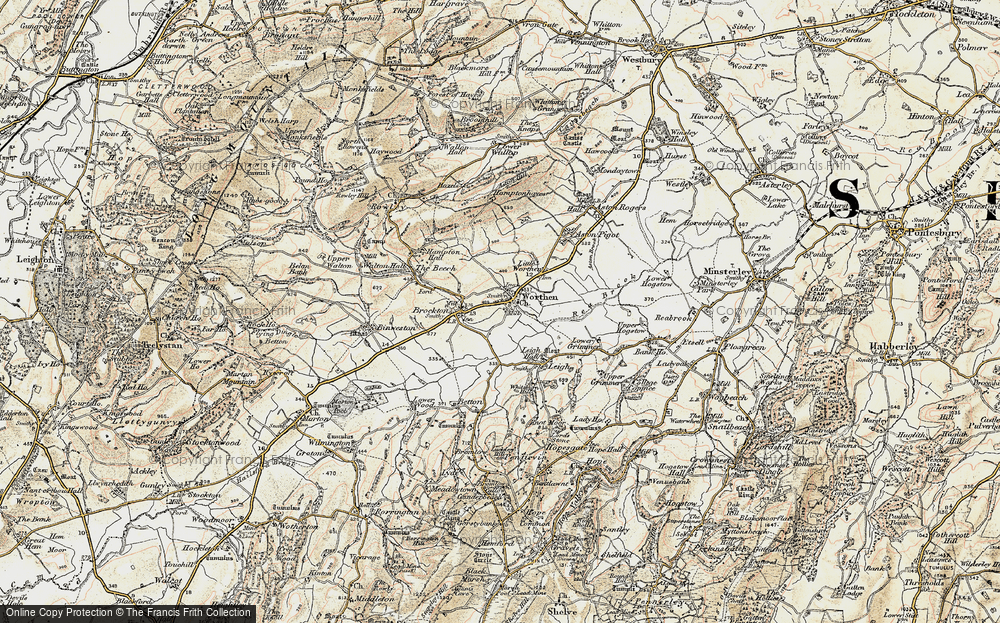Old Map of Worthen, 1902-1903 in 1902-1903