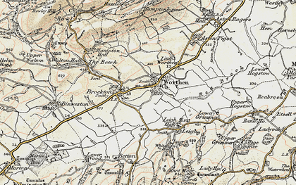 Old map of Worthen in 1902-1903