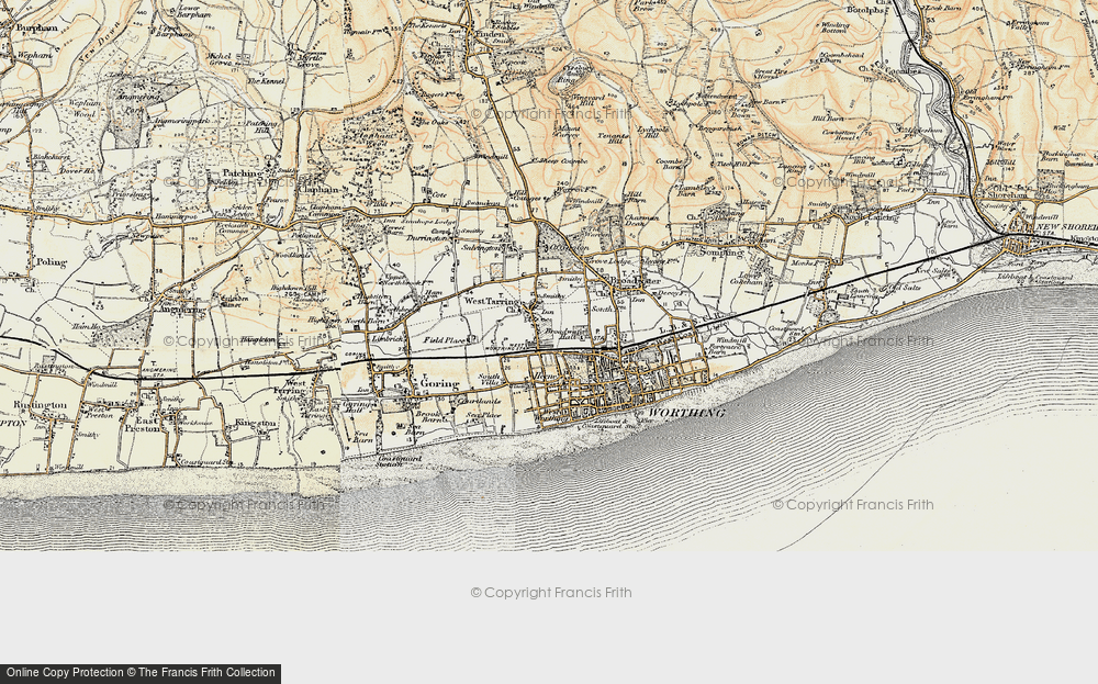 Old Map of Worthing, 1898 in 1898