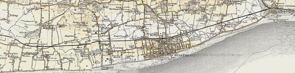 Old map of Worthing in 1898