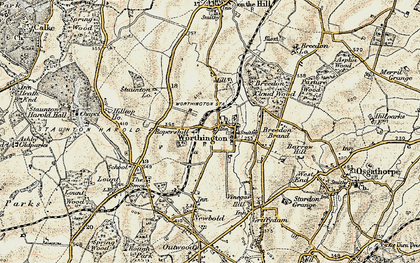 Old map of Worthington in 1902-1903