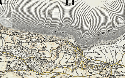 Old map of Worthy in 1900