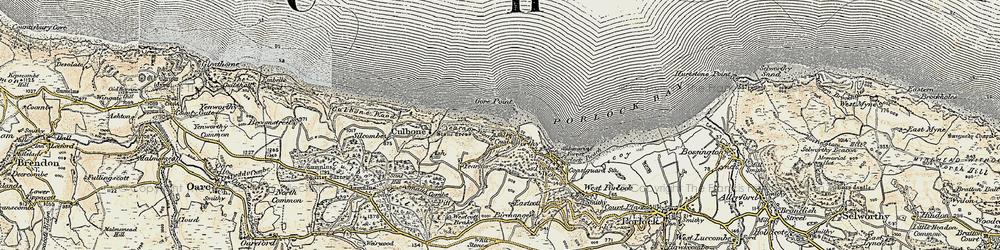 Old map of Westcott Brake in 1900