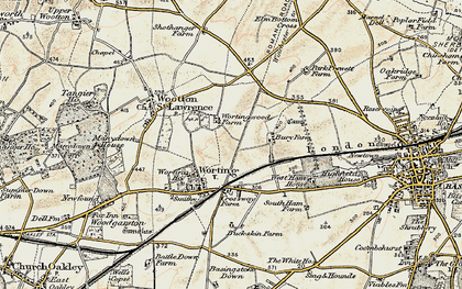 Old map of Worting in 1897-1900