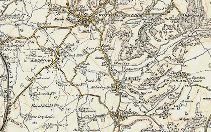 Old map of Wortley in 1898-1899