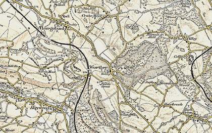 Old map of Wortley in 1903