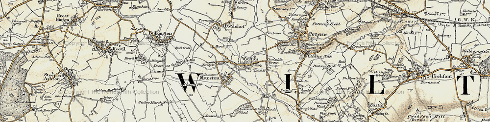 Old map of Worton in 1898-1899