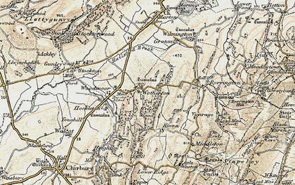Old map of Woodmoor in 1902-1903