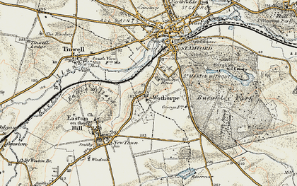 Old map of Wothorpe Ho in 1901-1903