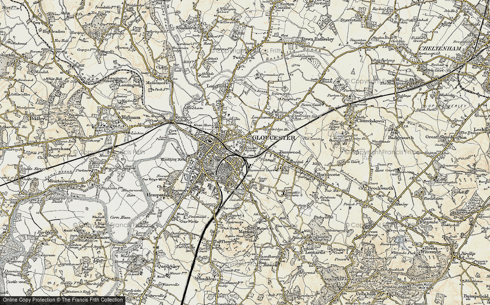 Old Map of Wotton, 1898-1900 in 1898-1900