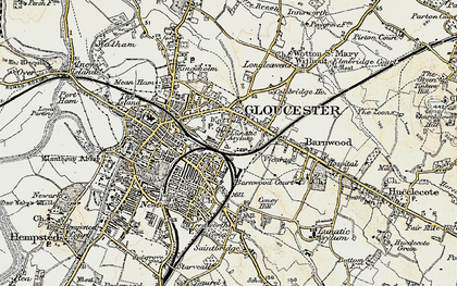 Old map of Wotton in 1898-1900