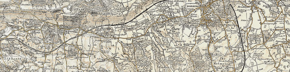 Old map of Westlane Barn in 1898-1909
