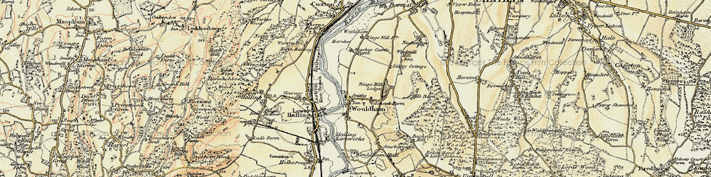Old map of Wouldham in 1897-1898