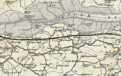 Old map of Wrabness in 1898-1899