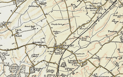 Old map of Wragby in 1902-1903