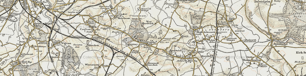 Old map of Wragby in 1903