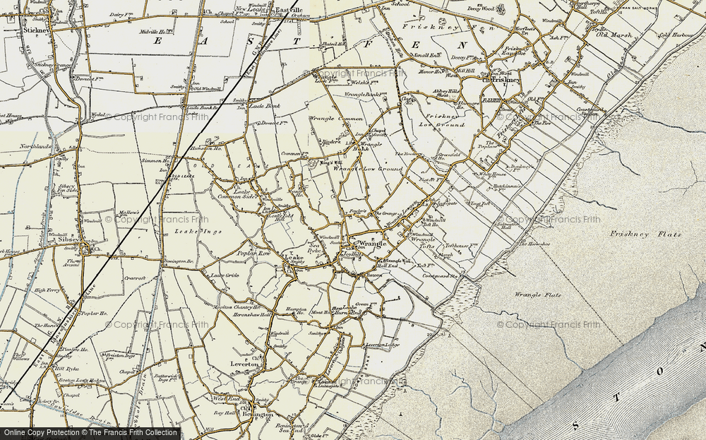 Old Map of Wrangle, 1901-1902 in 1901-1902