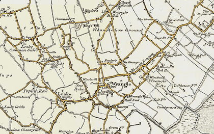 Old map of Wrangle in 1901-1902