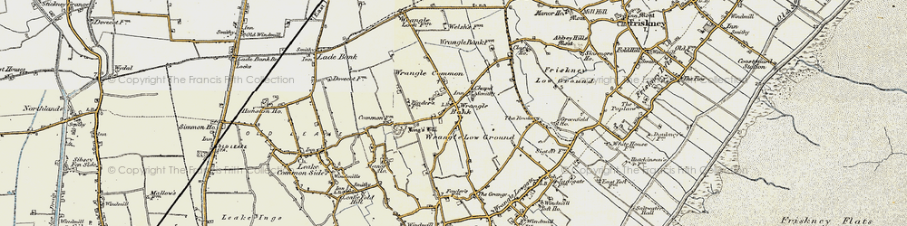 Old map of Wrangle Common in 1901-1902