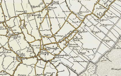 Old map of Wrangle Tofts in 1901-1902