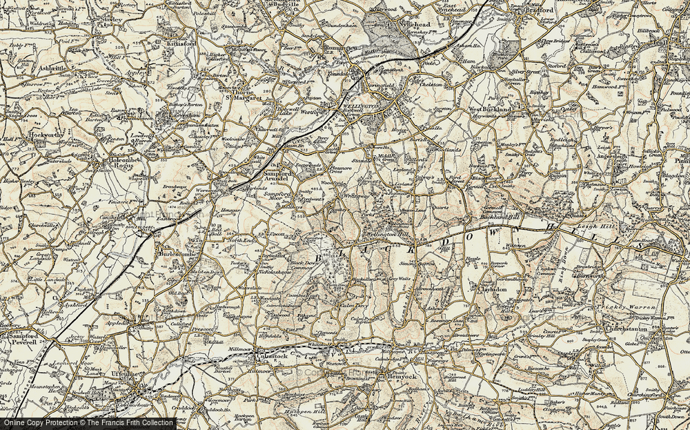 Old Map of Wrangway, 1898-1900 in 1898-1900