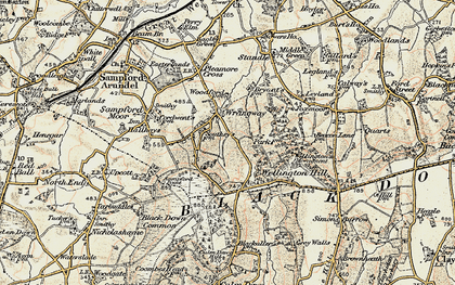Old map of Wrangway in 1898-1900